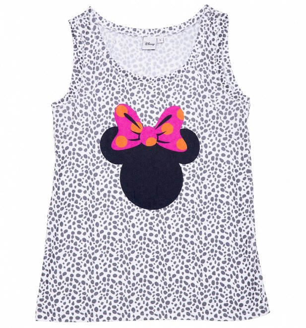 Women's Disney Minnie Mouse Head Spotted Animal Print Vest