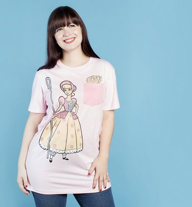 Women's Disney Pixar Toy Story Bo Peep Pocket T-Shirt from Cakeworthy