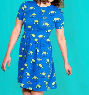 Women's Disney Pixar Toy Story Pizza Planet Aliens Dress from Cakeworthy