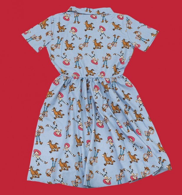 Women's Disney Pixar Woody's Round Up Button Up Dress from Cakeworthy