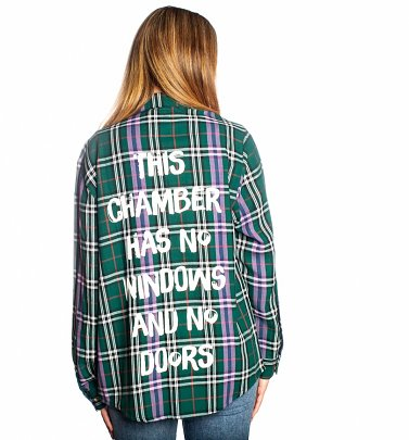 Women's Disney The Haunted Mansion Flannel Shirt from Cakeworthy