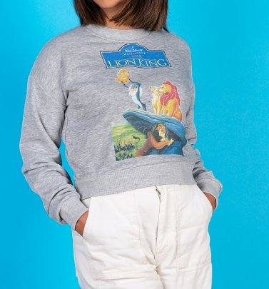 Women's Disney The Lion King Video Cover Cropped Sweater