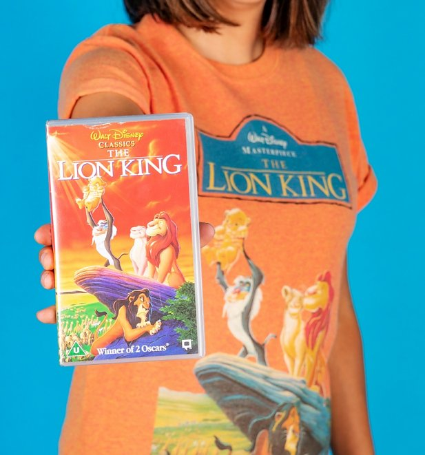 Women's Disney The Lion King Video Cover Sunset Boyfriend T-Shirt