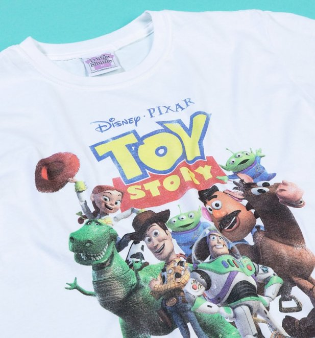 Women's Disney Toy Story Gang White T-Shirt