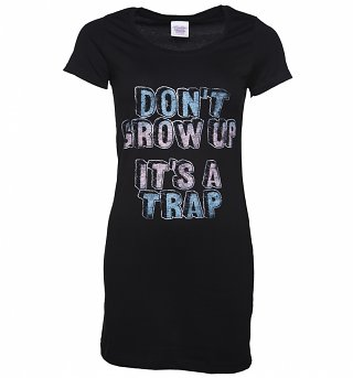 Women's Don't Grow Up It's A Trap T-Shirt Dress