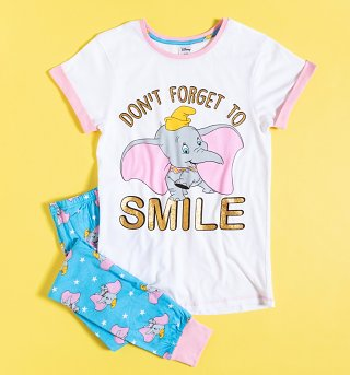Women's Dumbo Don't Forget To Smile Disney Pyjamas