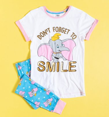 Women's Dumbo Don't Forget To Smile Pyjamas