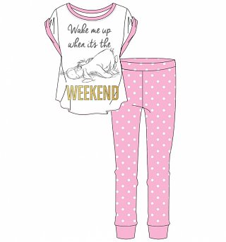 Women's Eeyore Wake Me Up When It's The Weekend Pyjamas