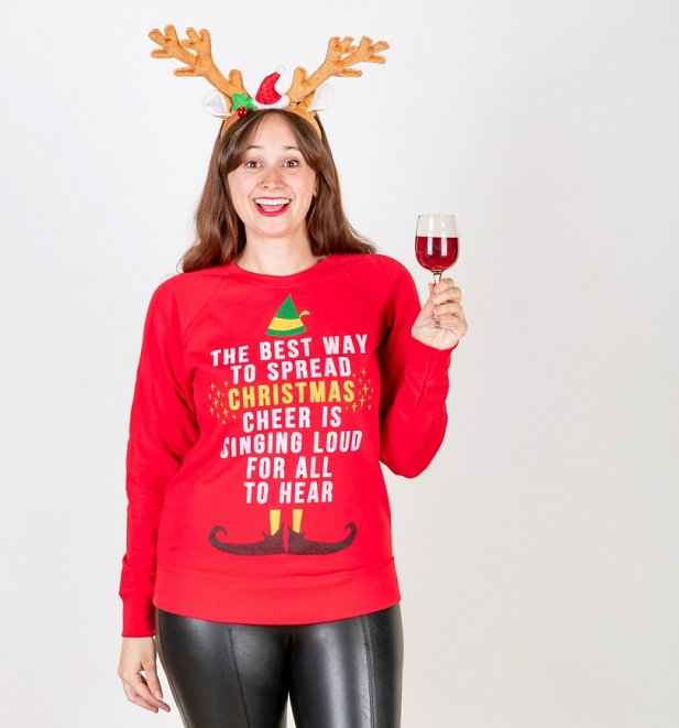 Women's Elf Christmas Cheer Sweater