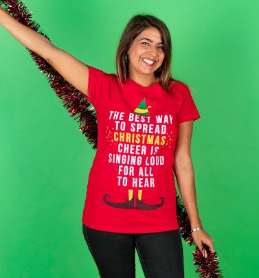 Women's Elf Christmas Cheer Fitted T-Shirt