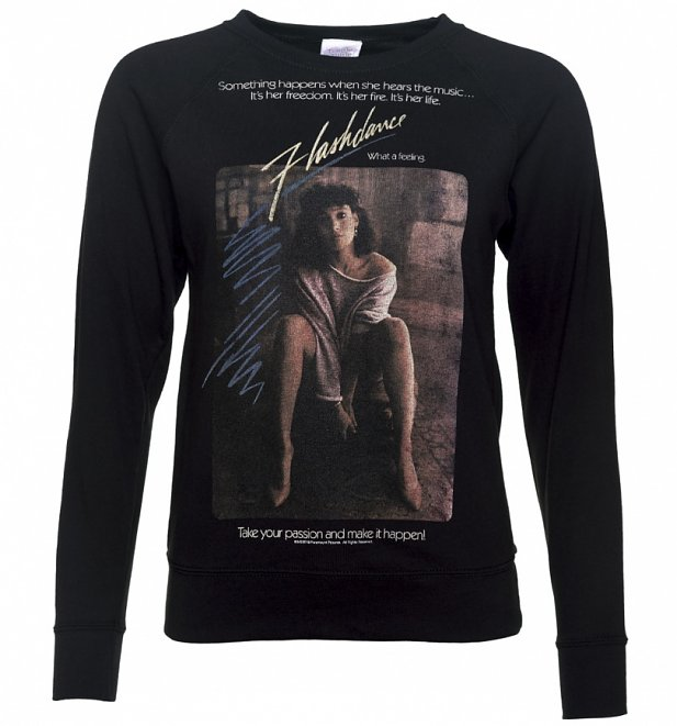 Women's Flashdance Movie Poster Black Lightweight Sweater
