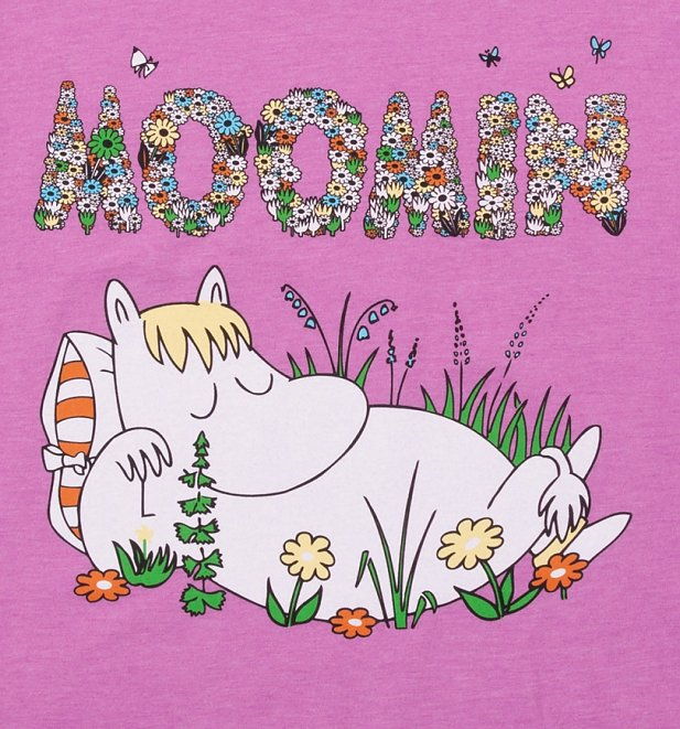 Women's Floral Moomins Scoop Neck T-Shirt