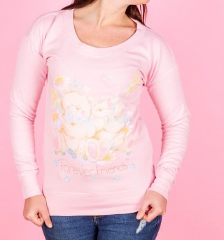 Women's Forever Friends Bears Fitted Sweater