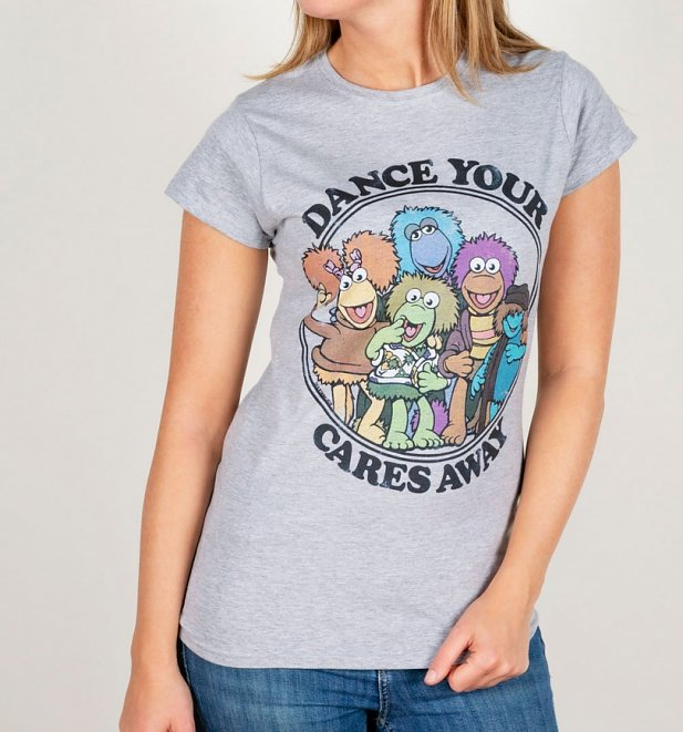 Women's Fraggle Rock Dance Your Cares Away Fitted T-Shirt
