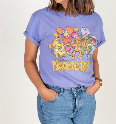 Women's Fraggle Rock Group Violet Boyfriend T-Shirt