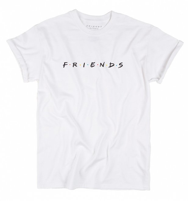 Women's Friends Logo Rolled Sleeve Boyfriend T-Shirt