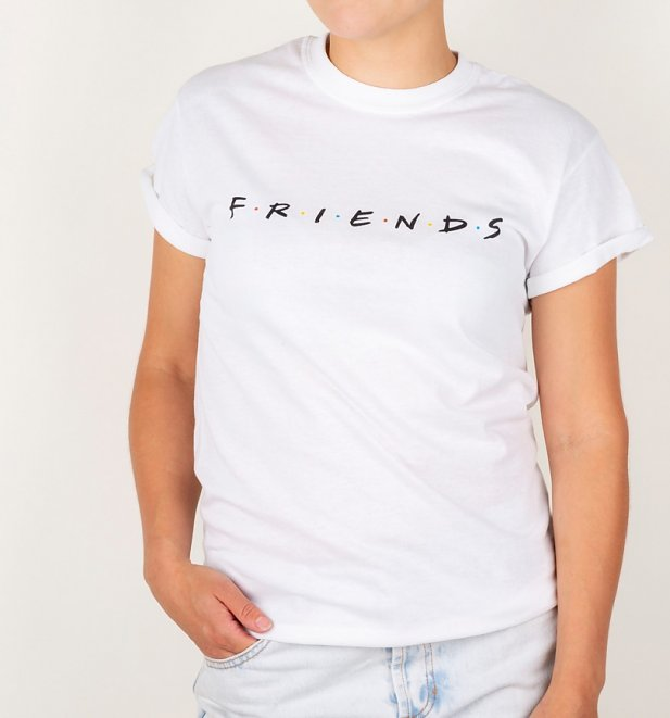 Friends Logo Rolled Sleeve Boyfriend T-Shirt