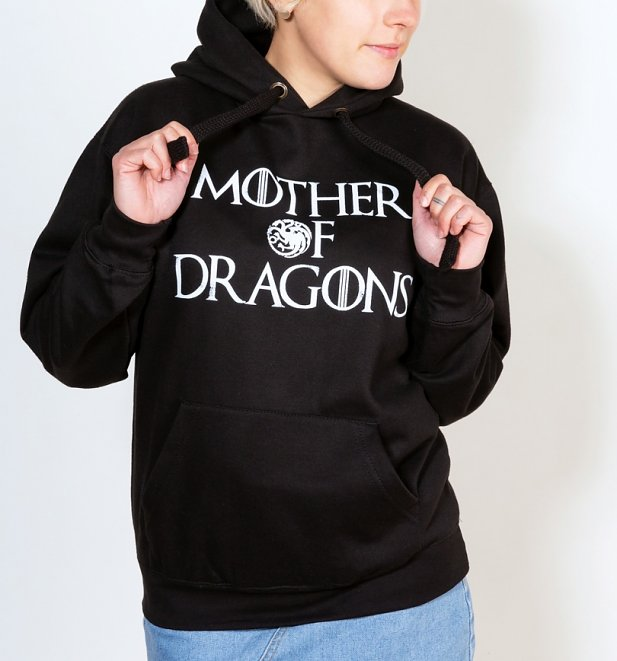 Women's Game Of Thrones Inspired Mother Of Dragons Black Hoodie