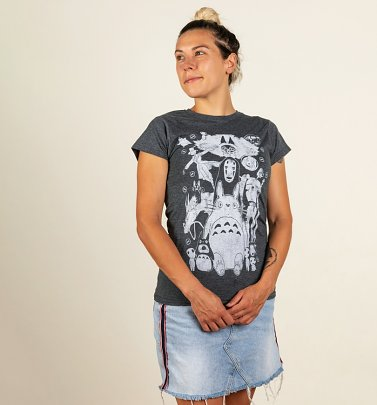 Women's Ghibli Gang Fitted T-Shirt