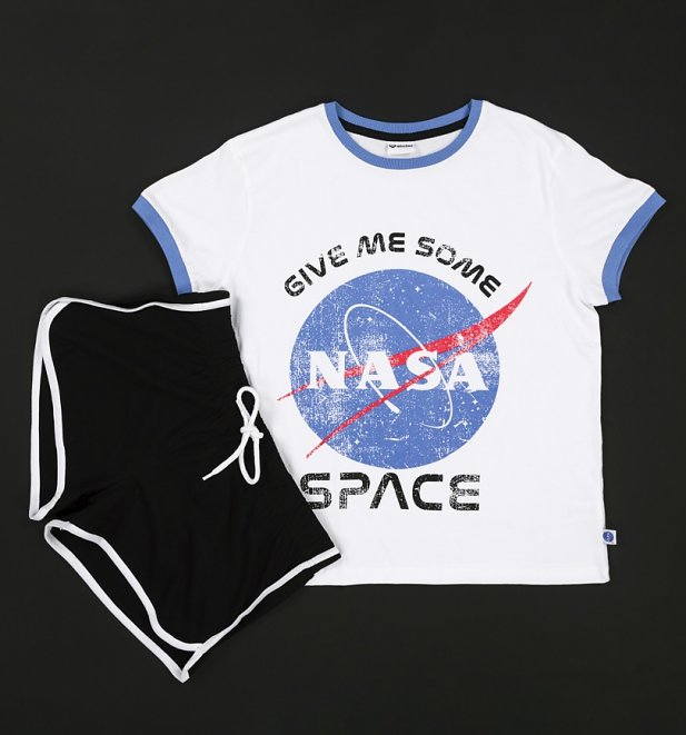 Women's Give Me Some Space NASA Shortie Pyjama Set