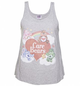 Women's Grey Vintage Care Bears Swing Vest