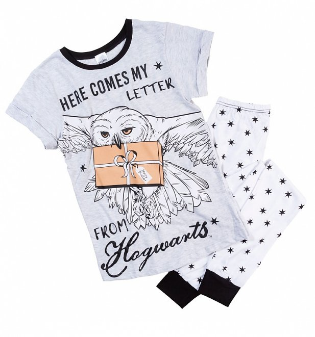 Women's Harry Potter Hedwig Here Comes My Letter From Hogwarts Pyjamas