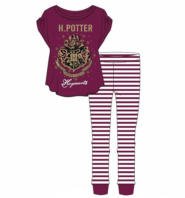 Harry Potter Hogwarts Striped Pyjamas