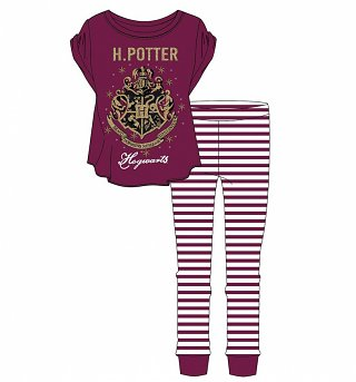 Women's Harry Potter Hogwarts Striped Pyjamas