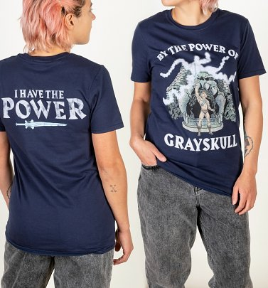 Women's He-Man Power Of Grayskull Navy T-Shirt