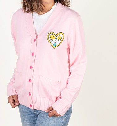 Women's Hey Arnold Embroidered Pink Cardigan from Cakeworthy