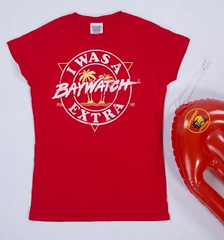 Women's I Was A Baywatch Extra T-Shirt