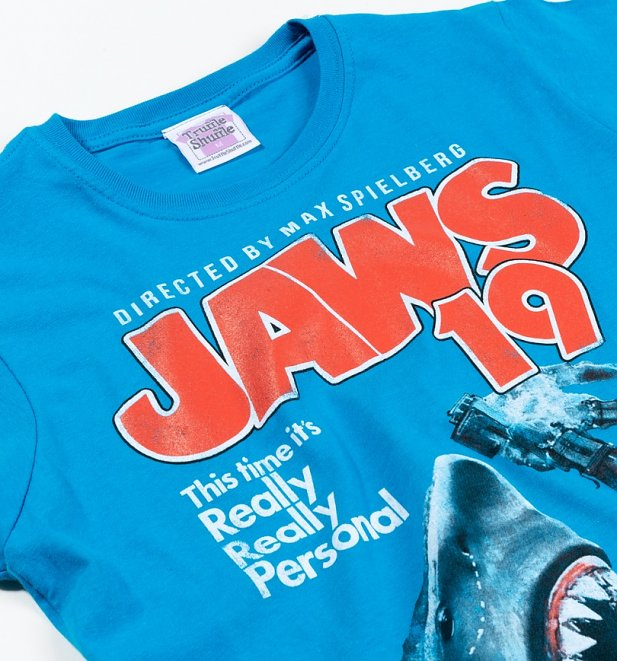 Women's Jaws 19 Movie Poster Fitted T-Shirt