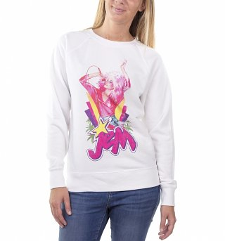 Women's Jem Centre Stage White Sweater