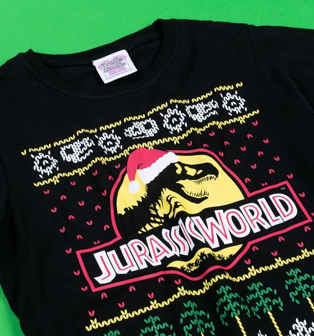 Women's Jurassic World Fair Isle Christmas T-Shirt