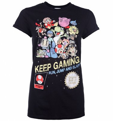 Women's Keep Gaming T-Shirt With Rolled Sleeves