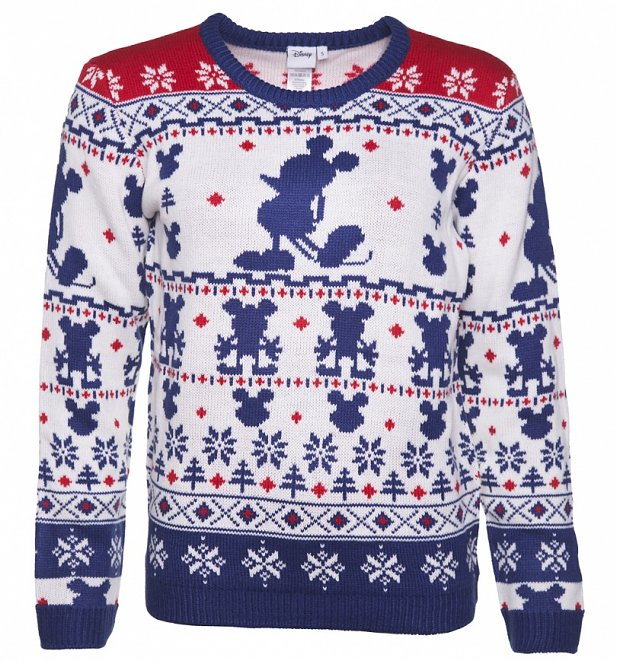 Women's Knitted Mickey Mouse Fair Isle Jumper