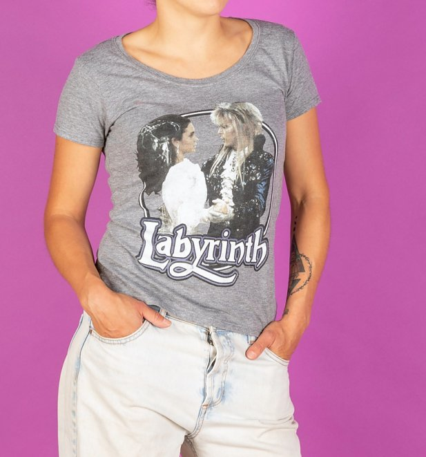 Women's Labyrinth Ballroom Dance Grey Marl Scoop Neck T-Shirt