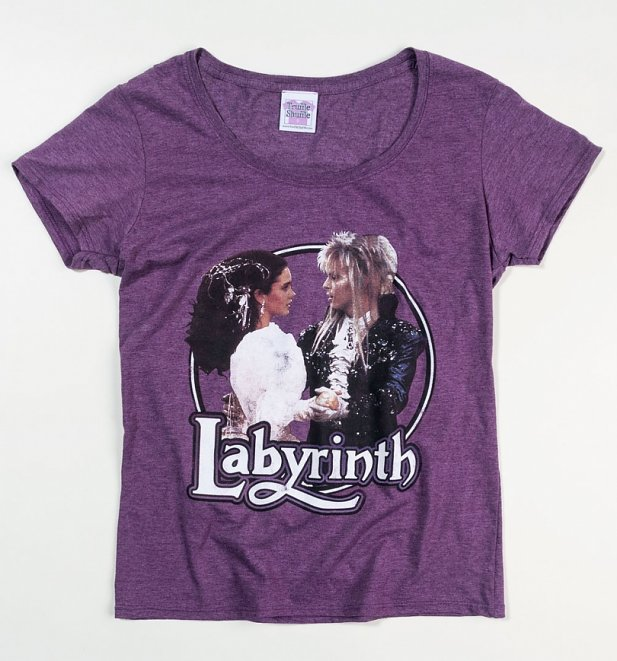 Women's Labyrinth Ballroom Dance Heather Aubergine Scoop Neck T-Shirt