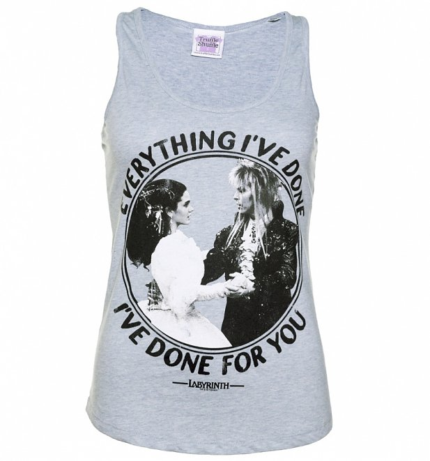 Women's Labyrinth Everything I've Done Slogan Blue Vest