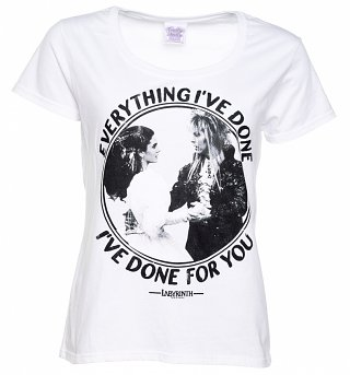 Women's Labyrinth Everything I've Done Slogan White Scoop Neck T-Shirt