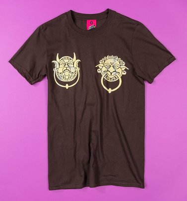 Women's Labyrinth Knockers Dark Brown T-Shirt