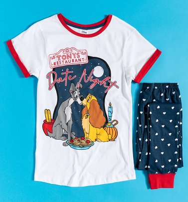 Women's Lady And The Tramp Tony's Restaurant Disney Pyjamas