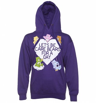 Women's Let's Be Care Bears For a Day Purple Hoodie