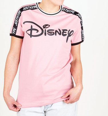 Women's Light Pink Disney Logo T-Shirt from Hype