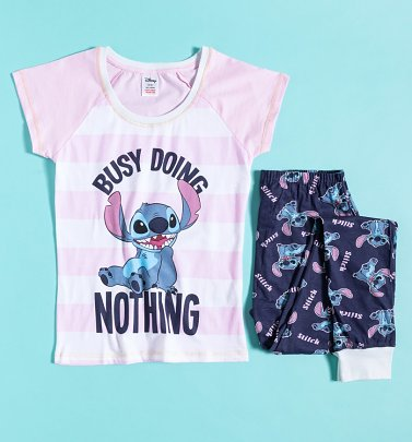 Women's Lilo And Stitch Busy Doing Nothing Pyjamas