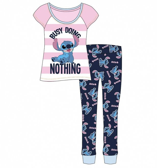 Women's Lilo And Stitch Busy Doing Nothing Disney Pyjamas