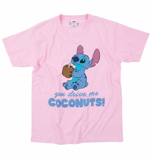 Women's Lilo And Stitch You Drive Me Coconuts Boyfriend T-Shirt