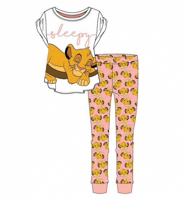 Women's Lion King Sleepy Simba Pyjamas