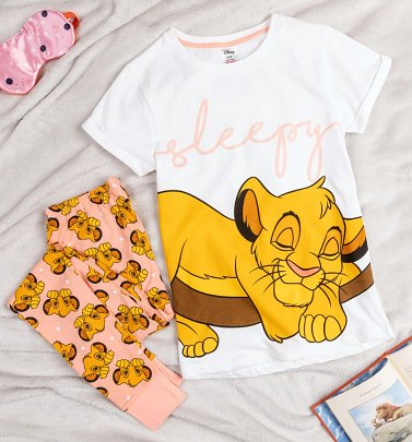 Women's Lion King Sleepy Simba Disney Pyjamas