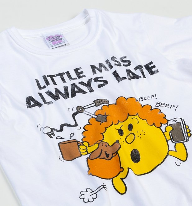Women's Little Miss Always Late White T-Shirt